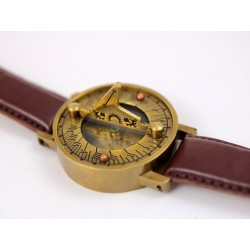 ASTONE WRIST SUNDIAL II (BROWN)