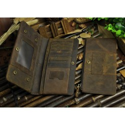 WALLET - VINTAGE BROWN - WITH CELL POCKET
