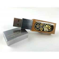 steamMEMORY of Wood (Black) - Pendrive - LED