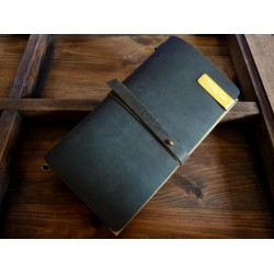 VINTAGE NOTEBOOK - DARK CHOCO + AKCESORIA