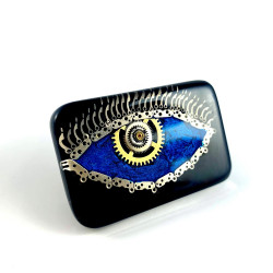 Broszka - THIRD EYE BLUE (BLACK)