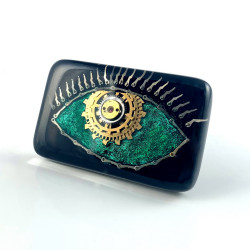 Broszka - THIRD EYE GREEN (BLACK)