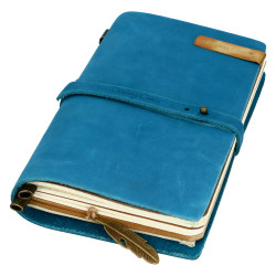VINTAGE NOTEBOOK - BLUE + AKCESORIA