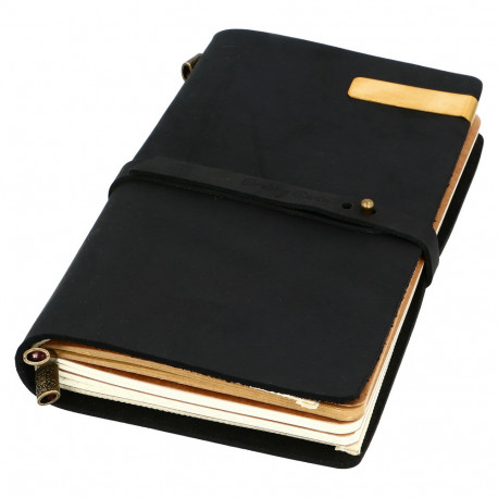 VINTAGE NOTEBOOK - BLACK + AKCESORIA