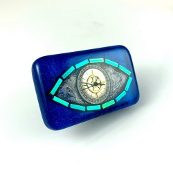 Broszka - THIRD EYE SILVER (BLUE)