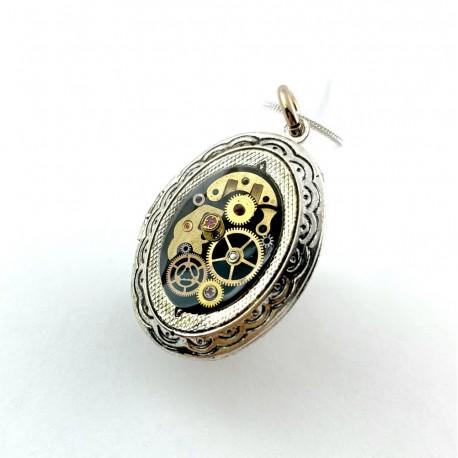 Biżuteria handmade - WISIOR - PUZDERKO NA ZDJECIE (BLACK)