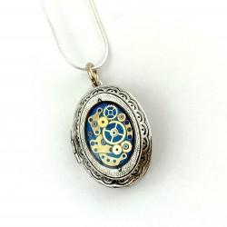 Biżuteria handmade - WISIOR - PUZDERKO NA ZDJECIE (BLUE)